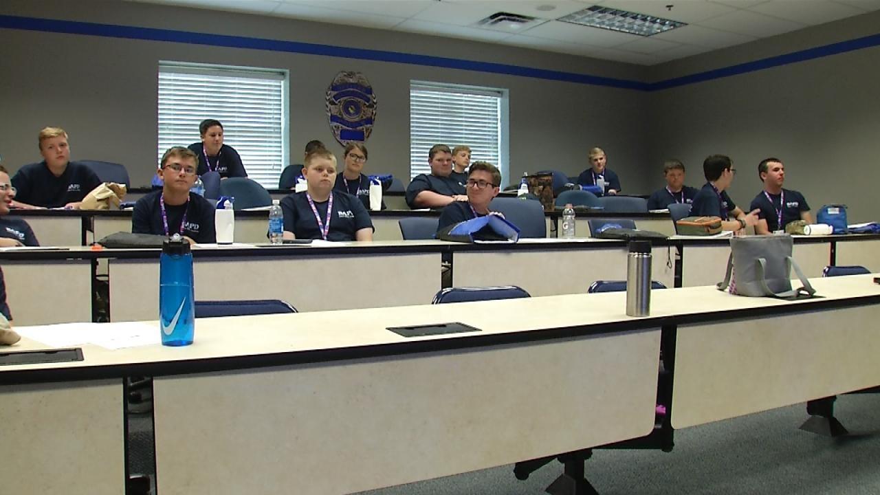 Students Take Part In Broken Arrow Junior Police Academy