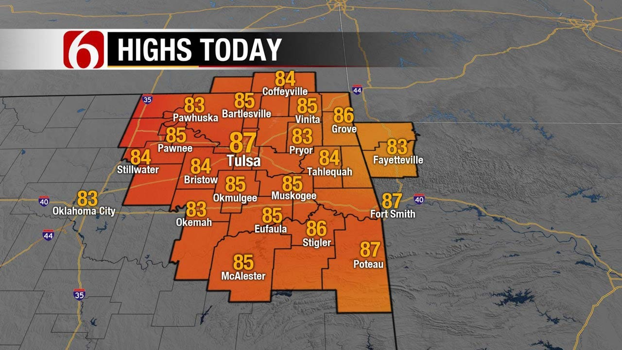 Warm, Humid And Breezy Forecast For Eastern Oklahoma