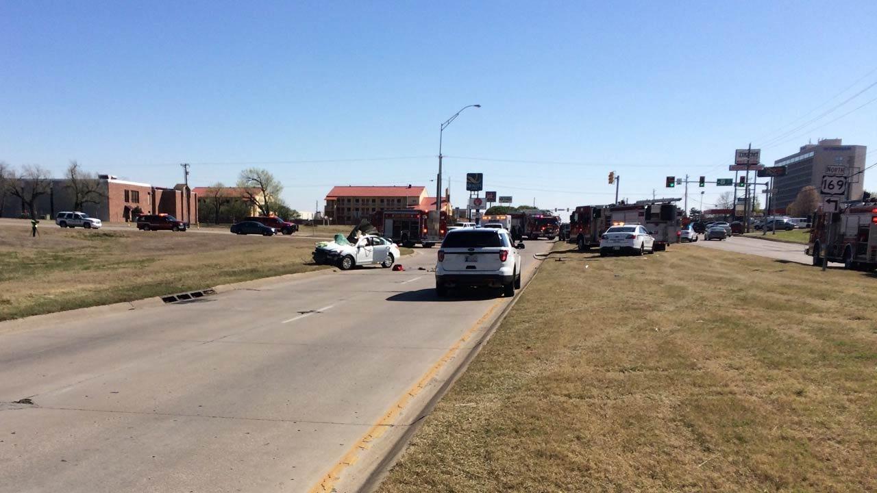 Road Rage Crash Injures Two, Tulsa Police Say
