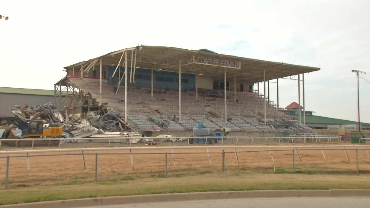 Demolition, Deconstruction Underway At Fairgrounds, Old Drillers Stadium