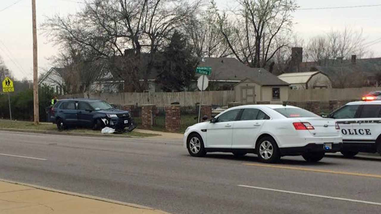 Unmarked TPD Gang-Unit Vehicle Involved In Crash