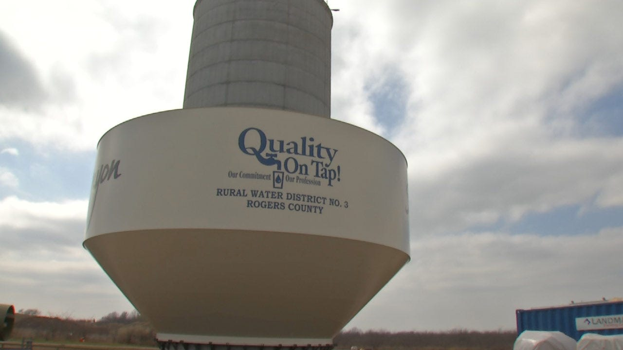 $4M Rogers County Water Tower Nearing Completion