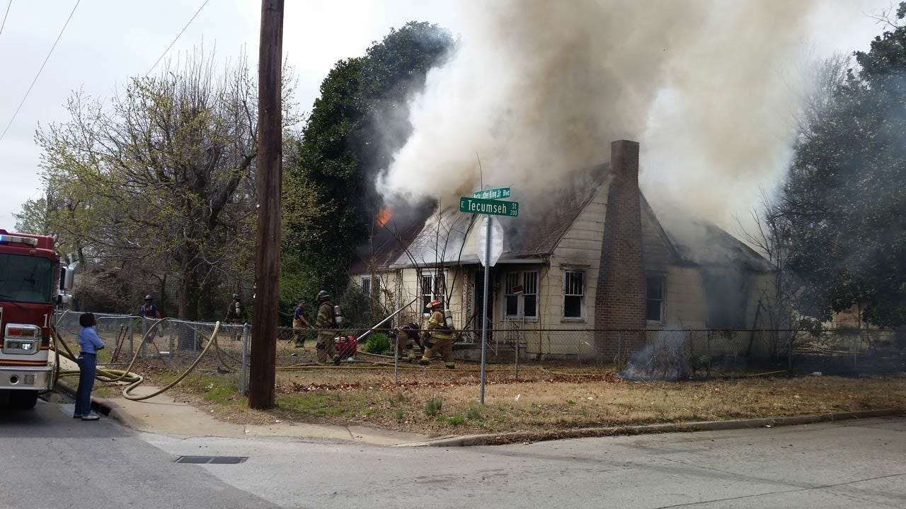 House Fire Creates Huge Plume Of Smoke In Tulsa