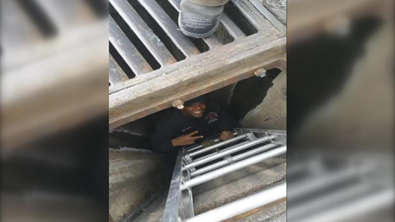 Tulsa Firefighter Plunges Into Sewer To Retrieve Woman's Wallet