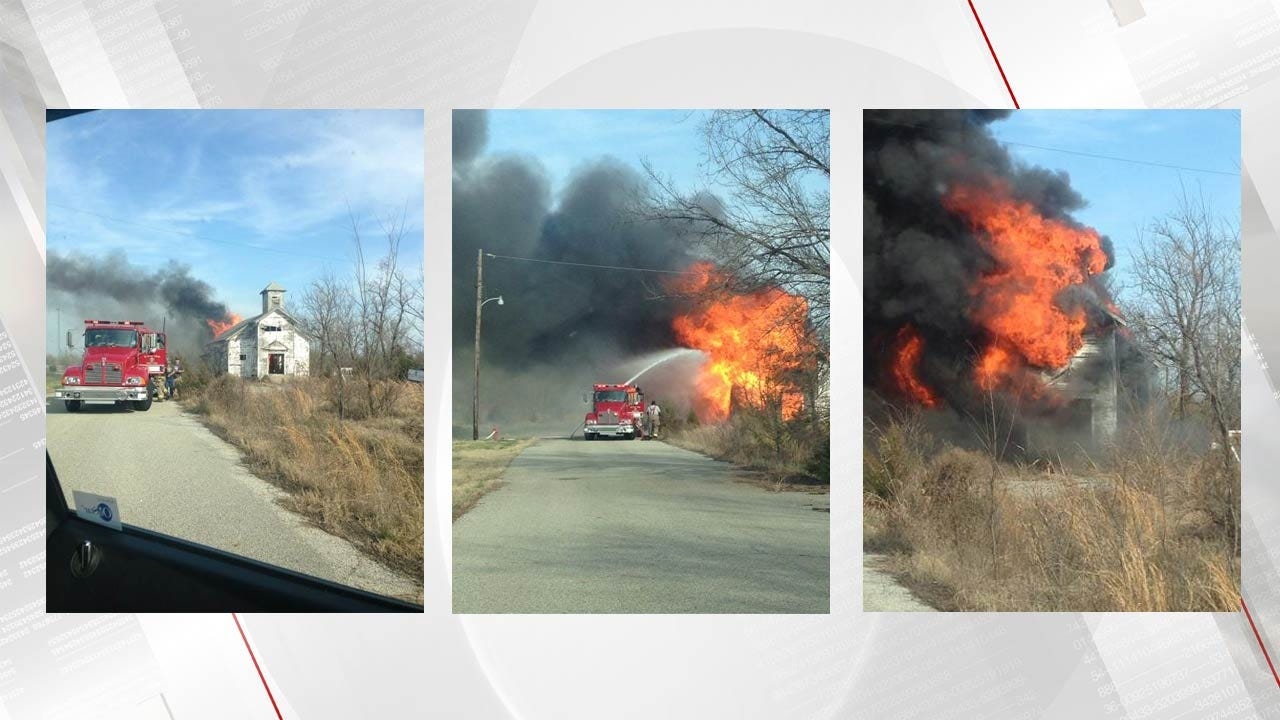 Fire Destroys Abandoned Church In Picher
