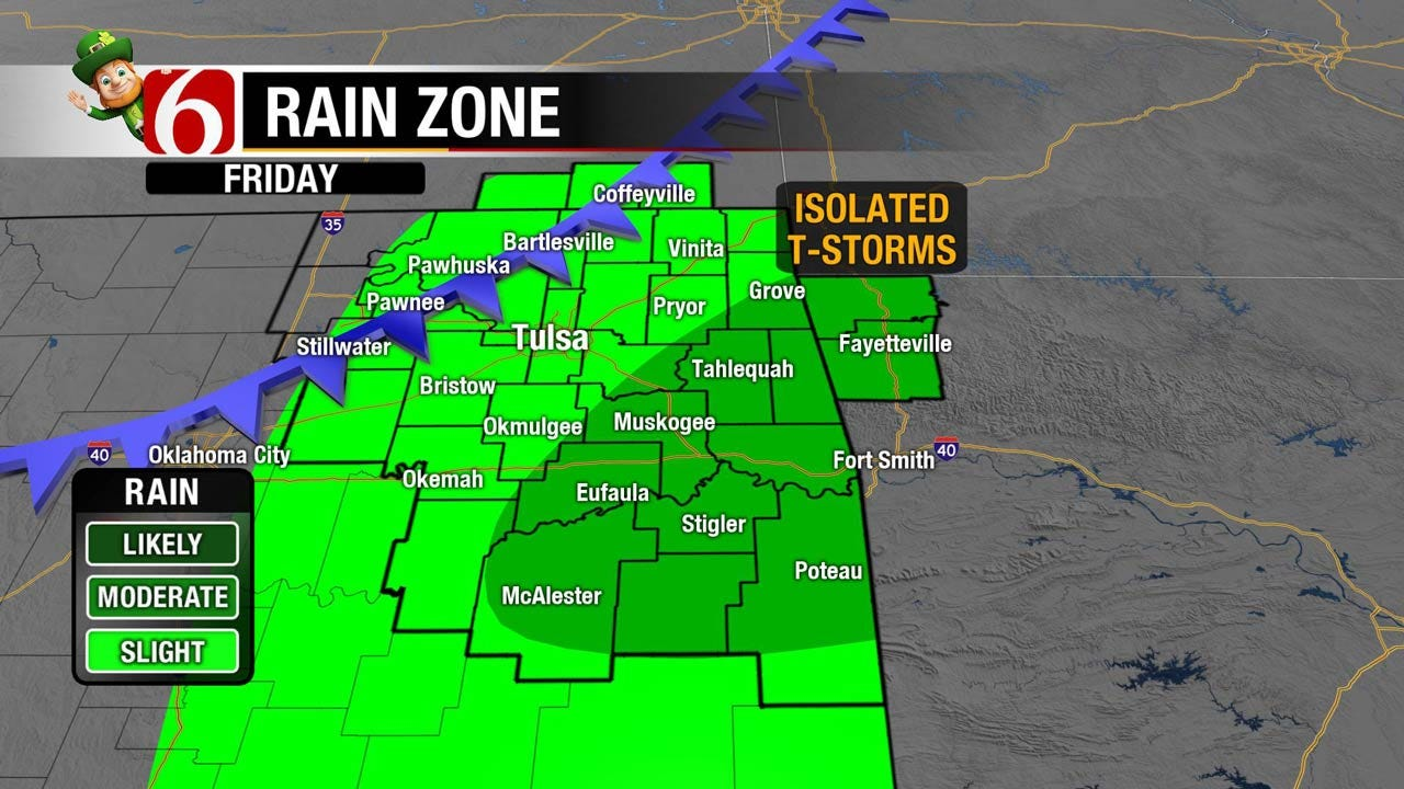 Mild, Chance For Showers Later In The Day Across Green Country