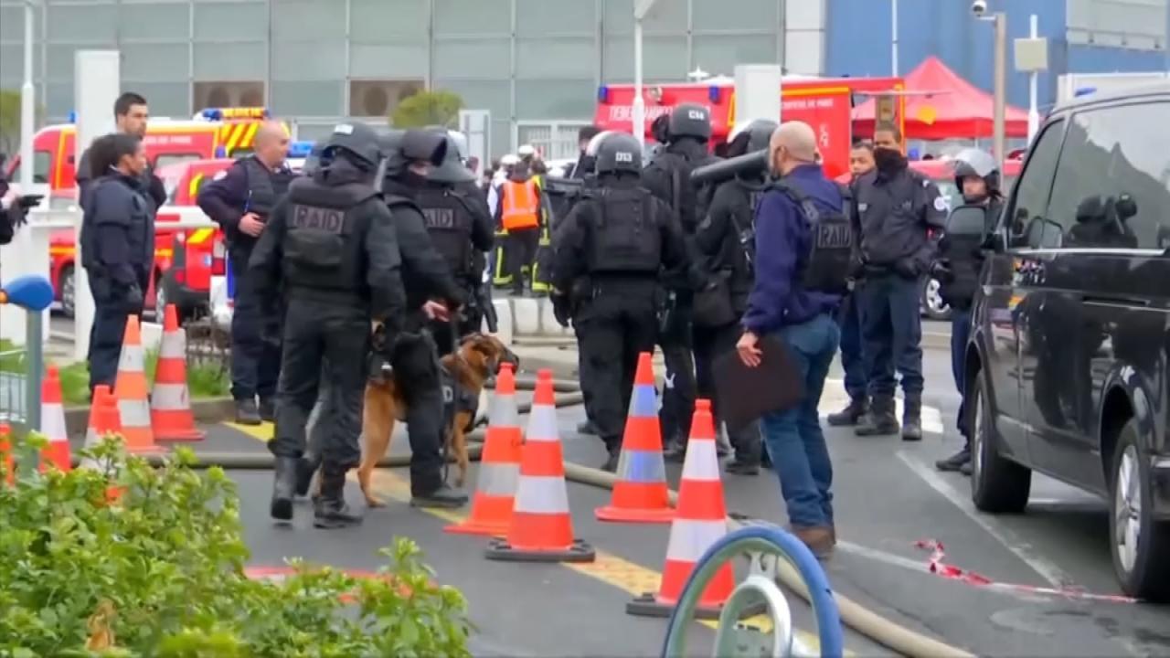 Man Killed After Grabbing Soldier's Gun At Paris Airport
