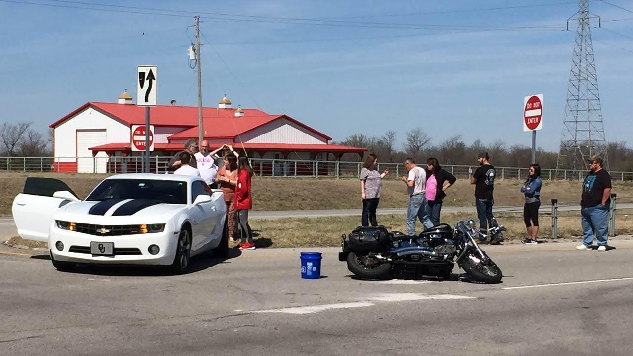 Motorcyclist Injured In Tulsa County Highway Crash