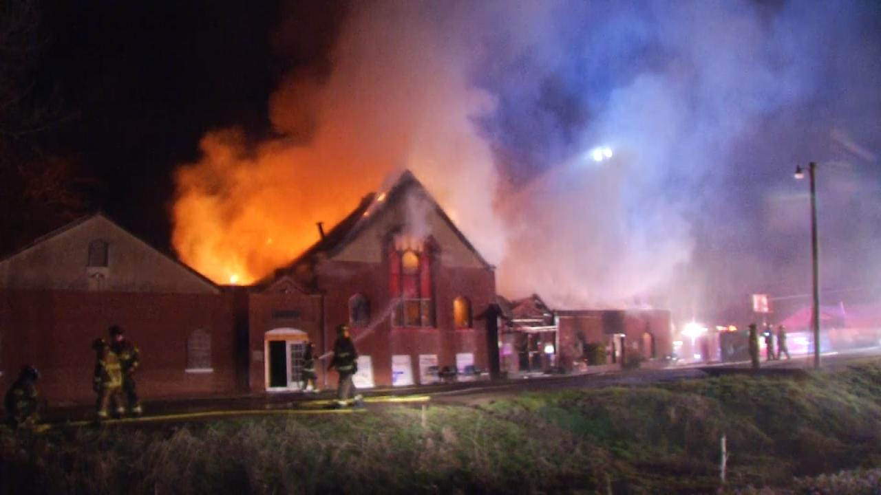 Fire Destroys Turley Community Center