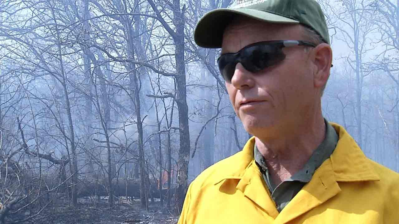 Firefighters Use 'Backfire' Technique To Stop Wildfire Near Okmulgee