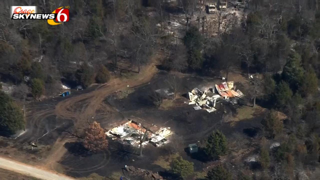 Osage SkyNews 6 HD Flies Over Aftermath Of Longtown Wildfire
