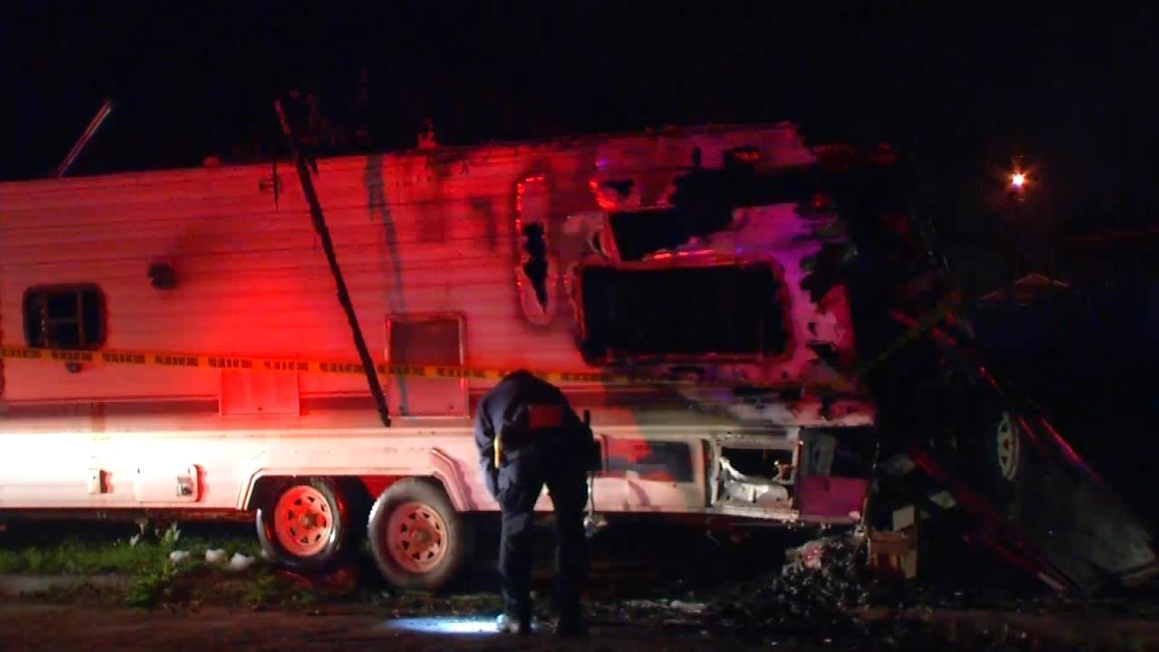 Woman Killed In Tulsa RV Fire