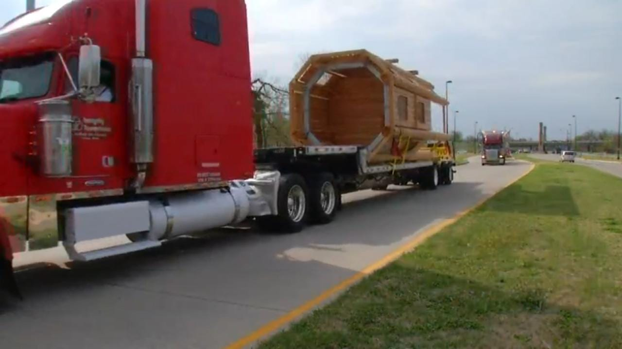 'A Gathering Place' Play Towers Arrive At Tulsa Park