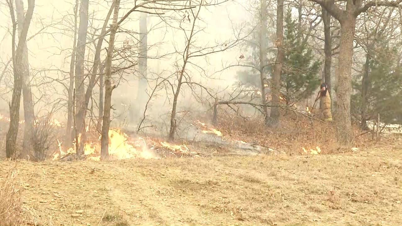 Firefighters Battle To Put Out Washington County Wildfire