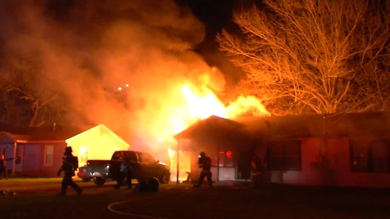 No Injuries Reported After Fire Erupts At Catoosa Home