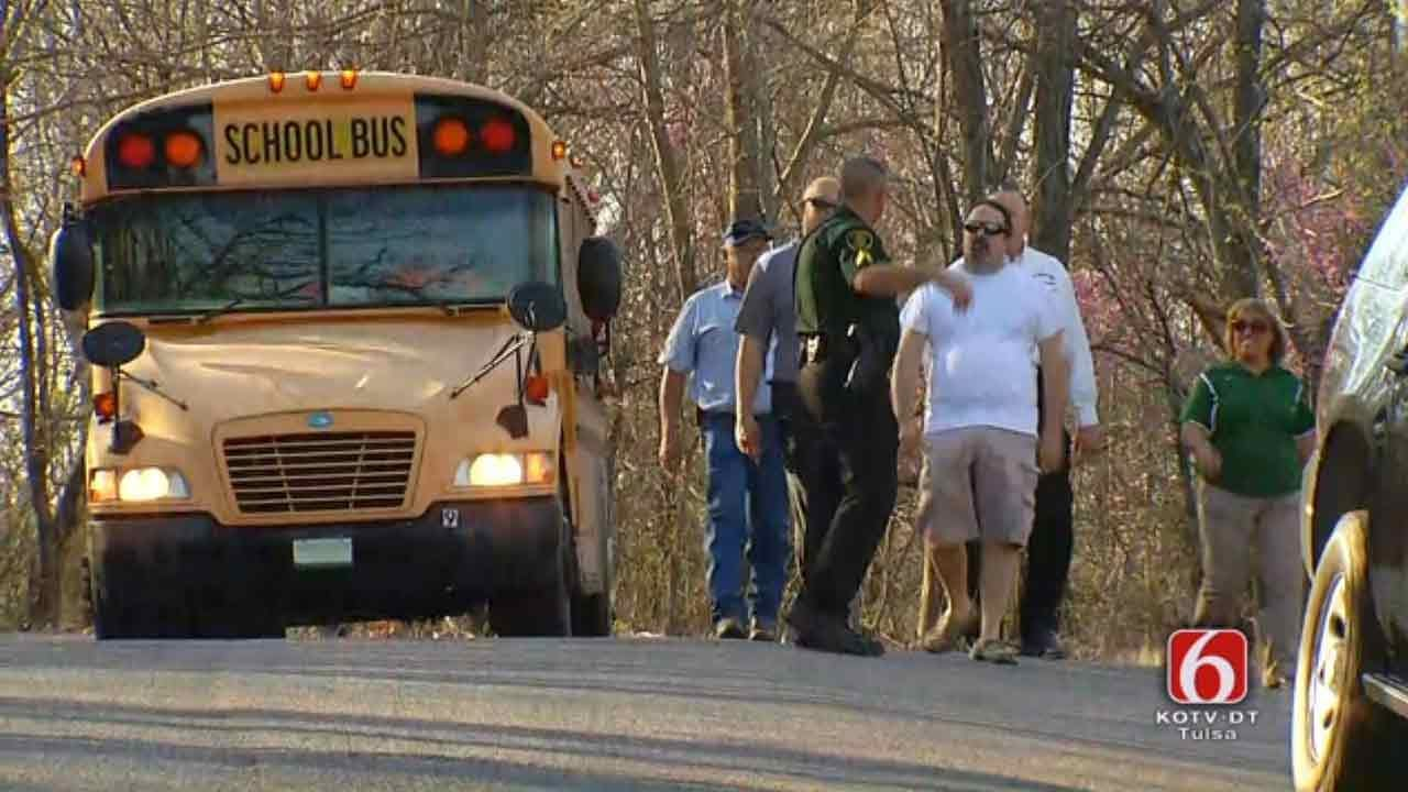 OHP: Several Students Taken To Hospital After Bus Crash In Mayes County
