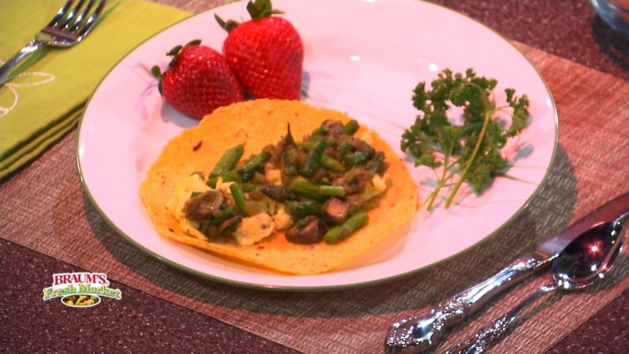 Tasty Spring Breakfast Taco with Asparagus