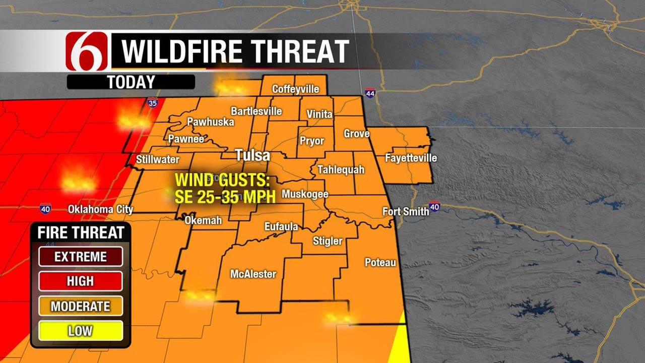 Warm And Windy Day Across Oklahoma