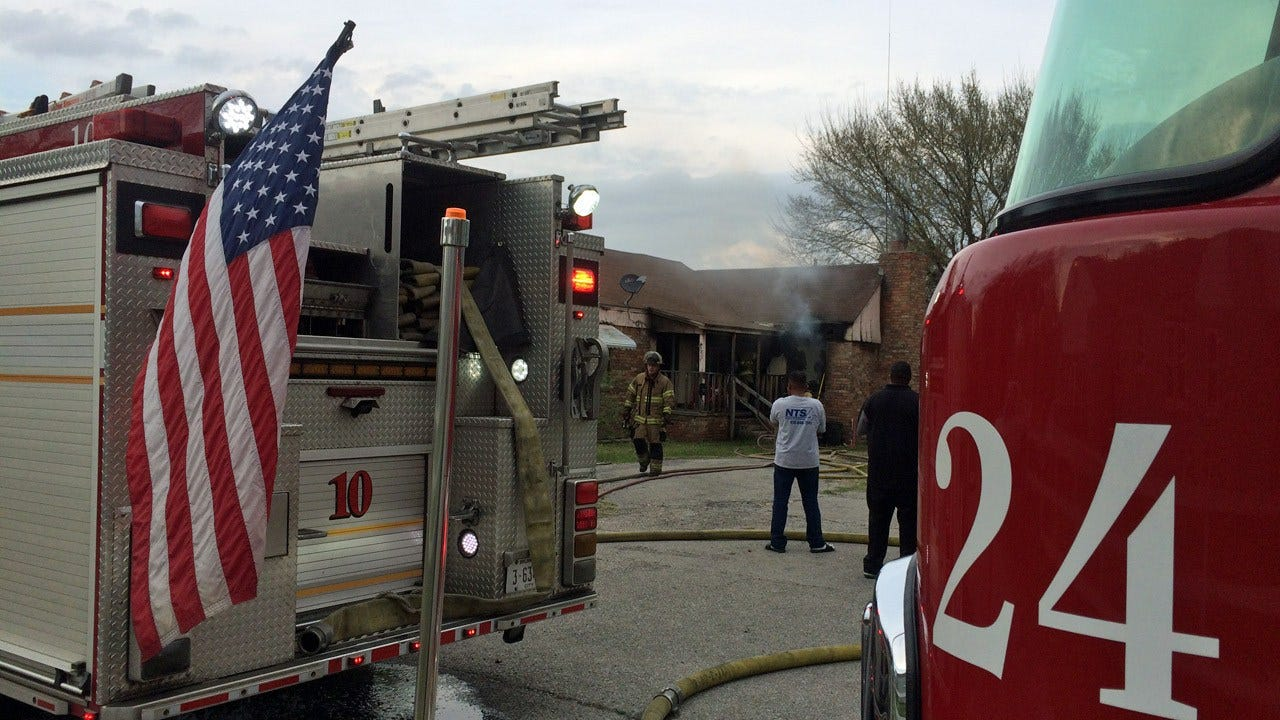 Tulsa Firefighters Report No Injuries After House Fire