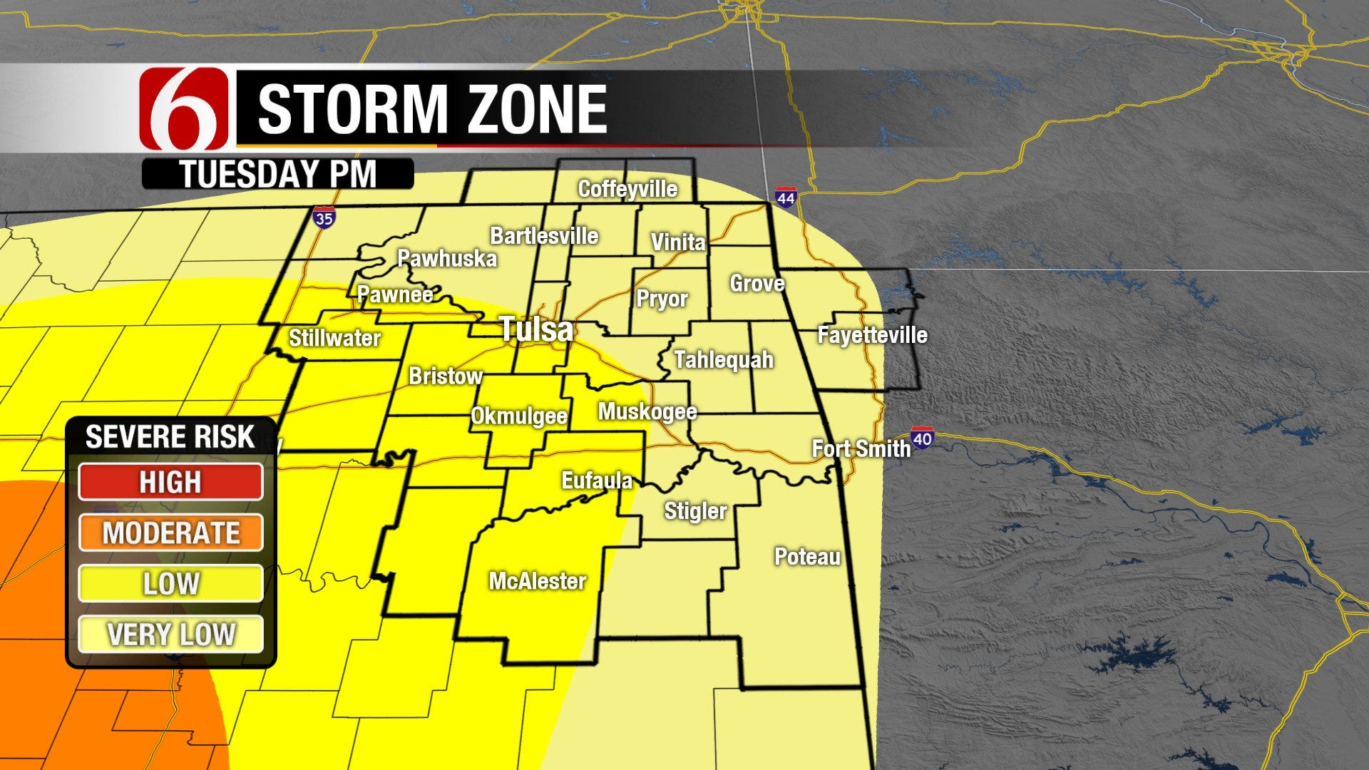 Good Chance Showers/Storms, Some Severe.