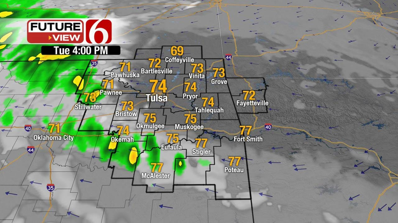 Storms To Develop Across Eastern Oklahoma