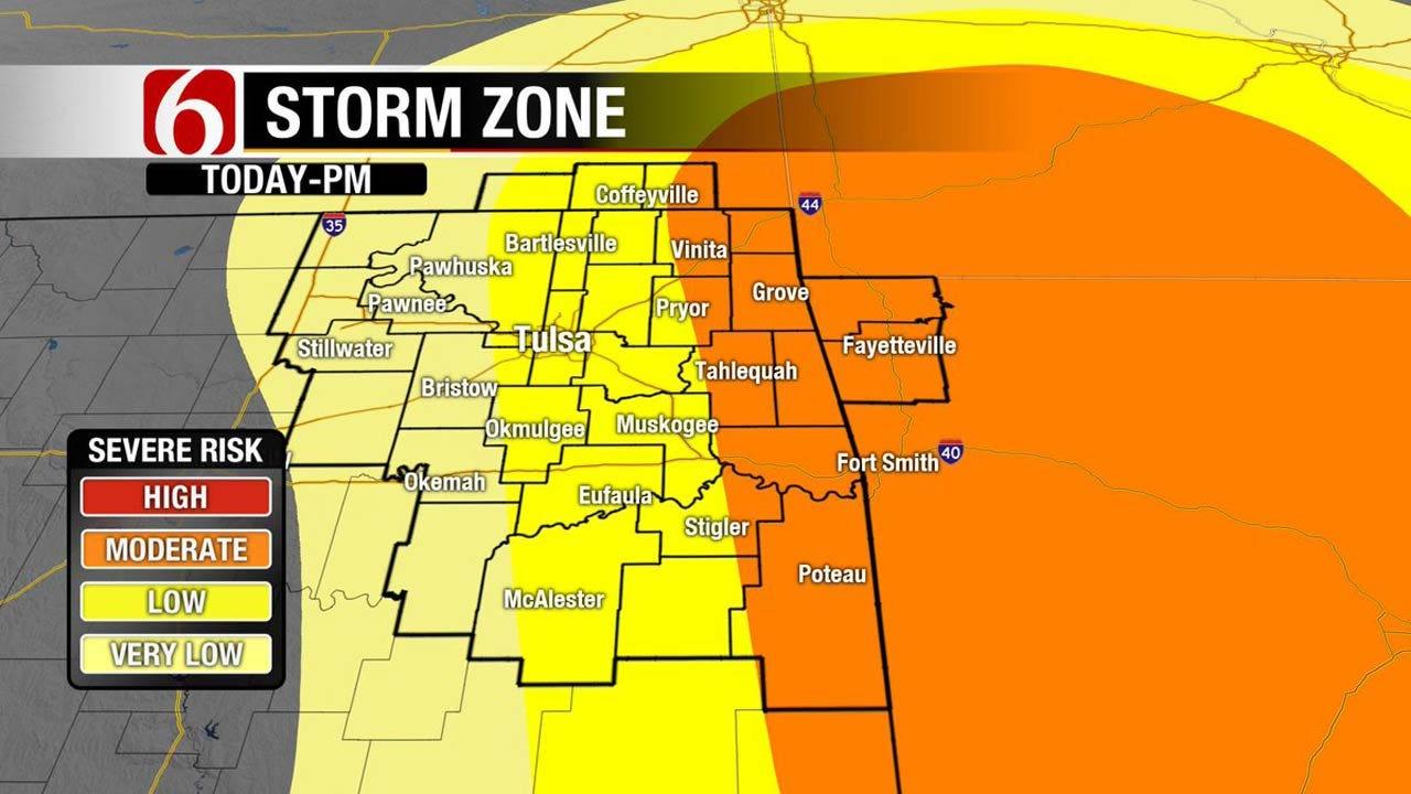 Thunderstorms, Heavy Rain Across Eastern Oklahoma