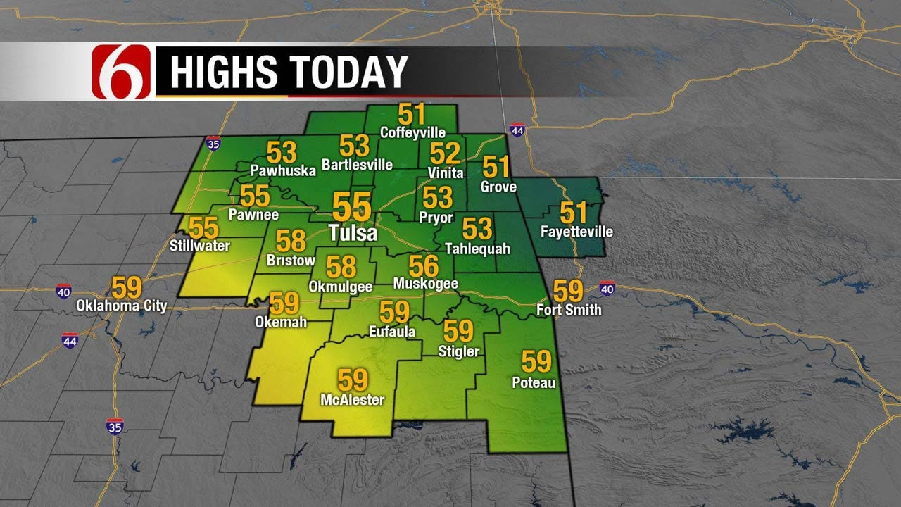 Chilly Temps Return To Eastern Oklahoma