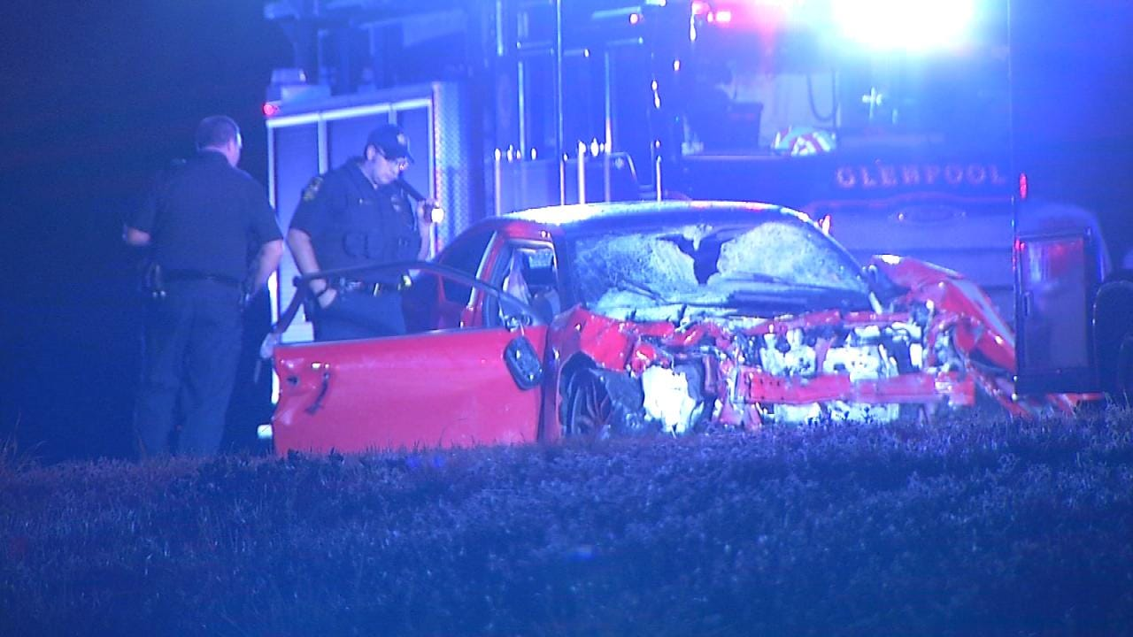 Driver Injured In Head-On Glenpool Highway Crash