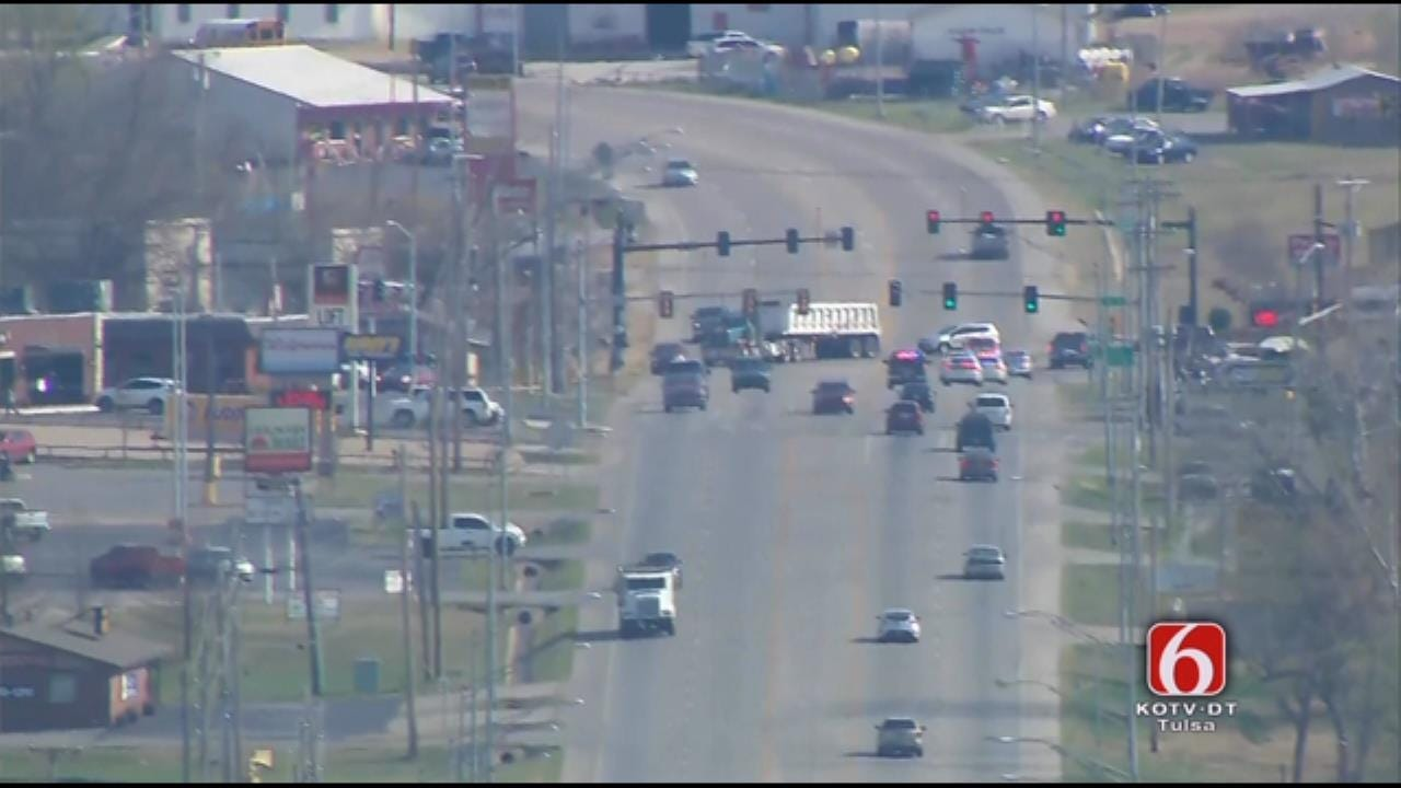 Suspect In Custody After Pursuit Heads From Tulsa To Muskogee County