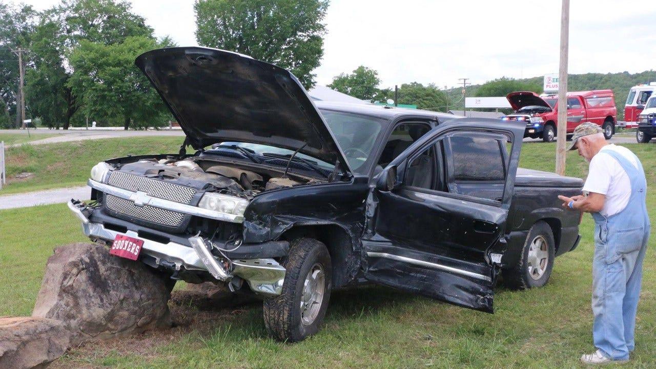 Okmulgee County Sheriff's Deputy Vehicle, Pickup Collide On Highway