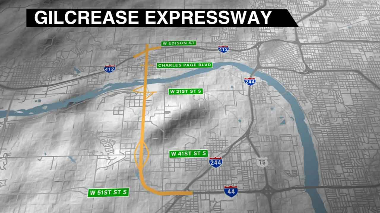 Start Of Construction Of Tulsa's Gilcrease Turnpike Takes Next Step
