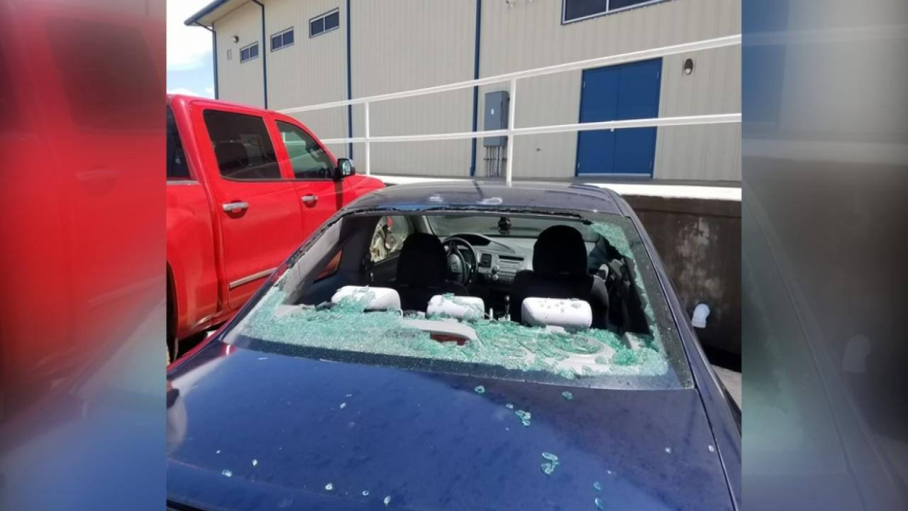 Hail Damage Reported Across North-Central Oklahoma