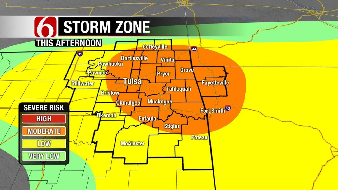 Severe Storms Develop Across Eastern Oklahoma