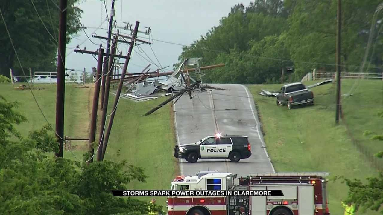 Storms Leave Several Claremore Residents Without Power