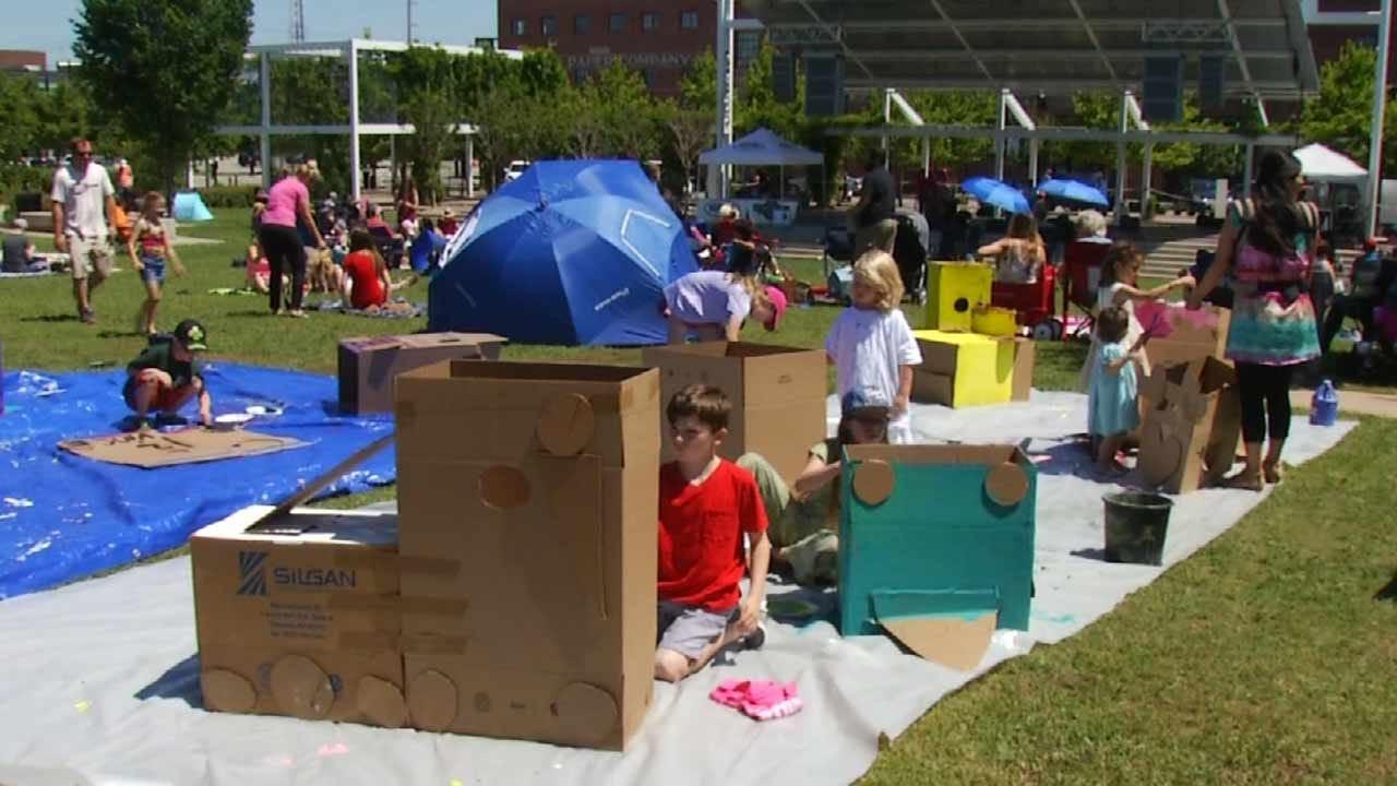 Kids Create Versions Of Tulsa Art Cars Before Blue Dome Festival