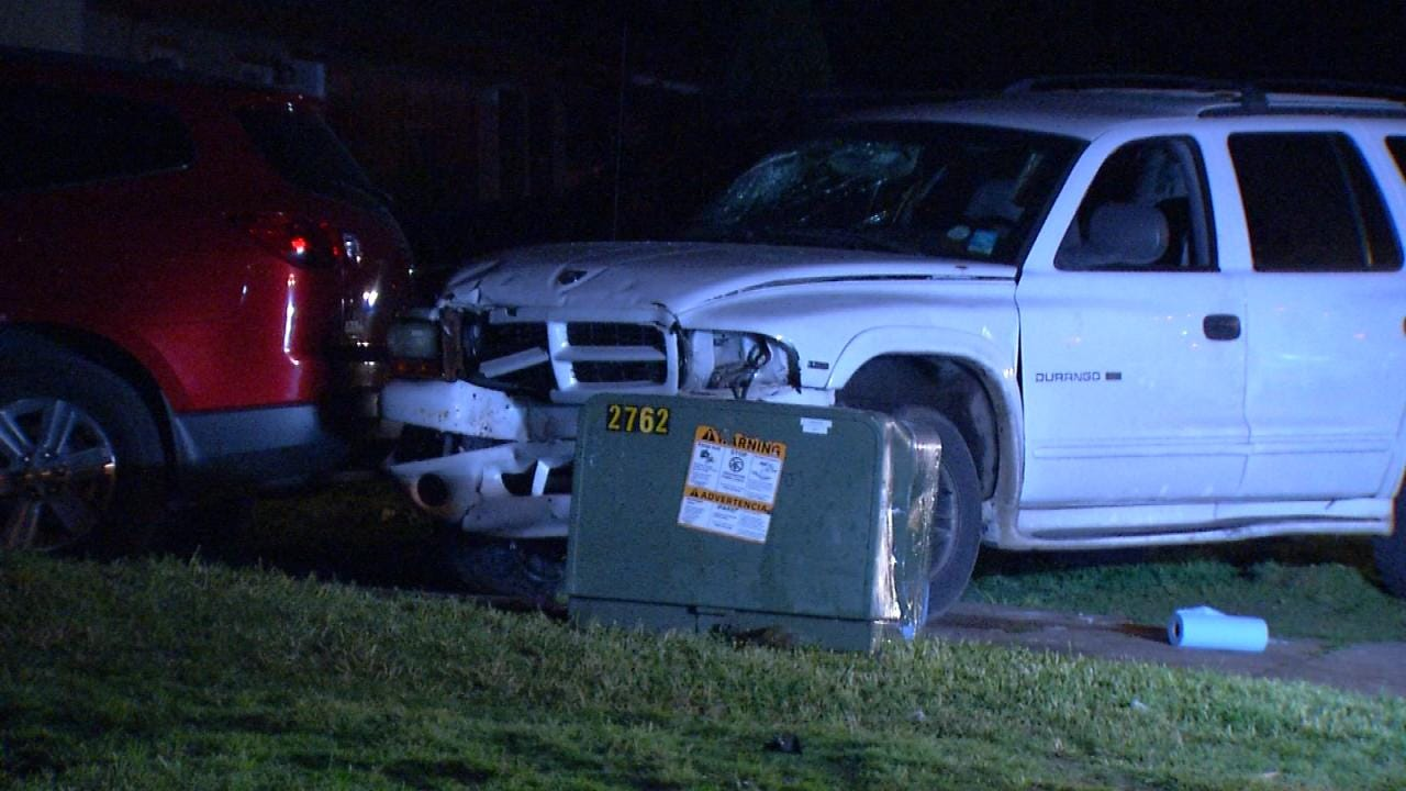 Tulsa Driver Causes Power Outage After Crashing Into Utility Box