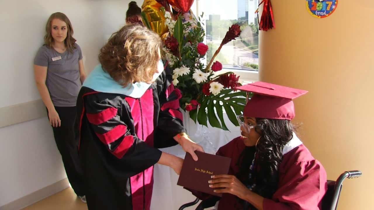 Jenks Student Battling Illnesses Has Graduation Brought To Her