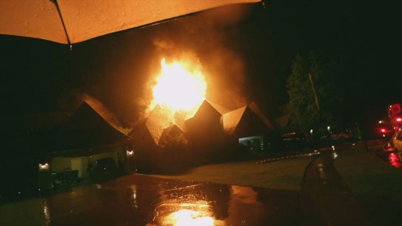 Bixby Family Remains In Good Spirits After Fire Destroys Home