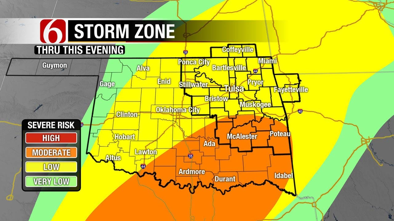 All Modes Of Severe Weather Possible In Eastern Oklahoma Friday