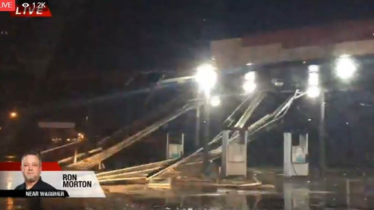 Storm Causes Damage In Wagoner
