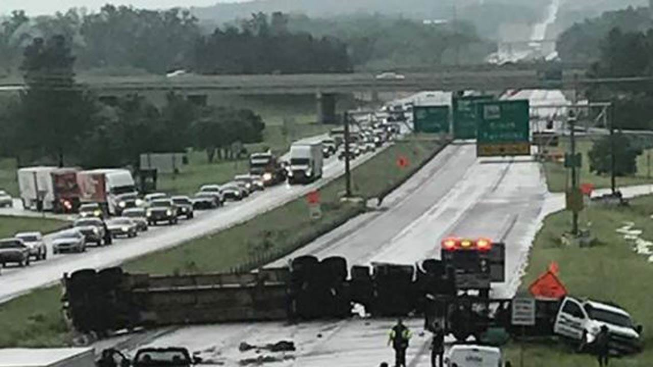 Truck Wreck Backs Up Traffic On Tulsa Highway