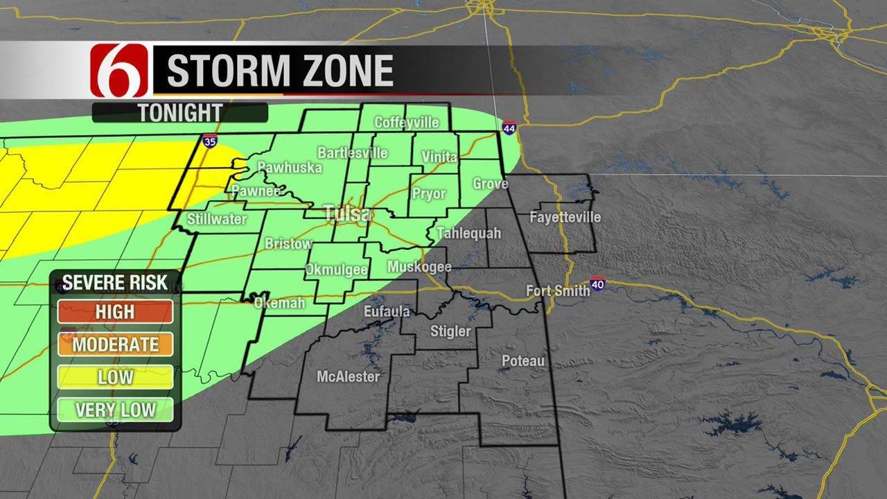 Thunderstorms, Hail Threaten Eastern Oklahoma