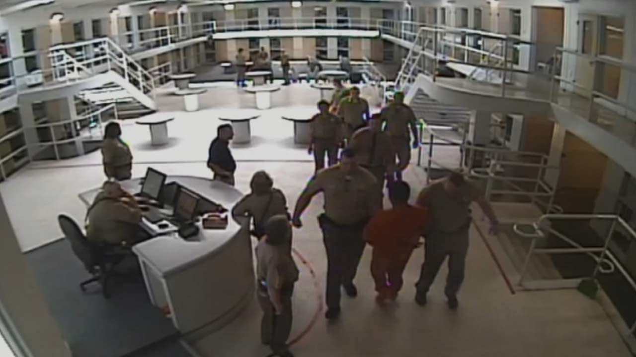 VIDEO: Inmate Charged With Assault And Battery For Punching Detention Officer
