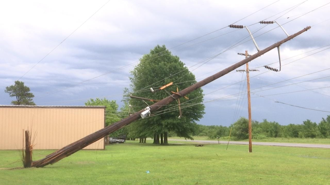 Thousands Without Power After Green Country Storms