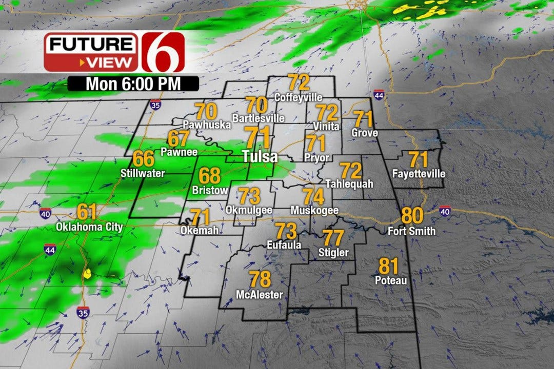 Fast-Moving System To Bring Showers, Storms To NE Oklahoma
