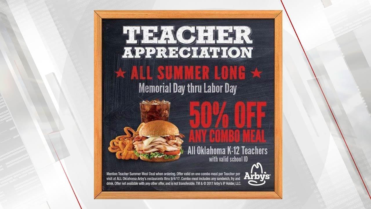 Arby's Offers Half-Price Deal To Oklahoma Teachers