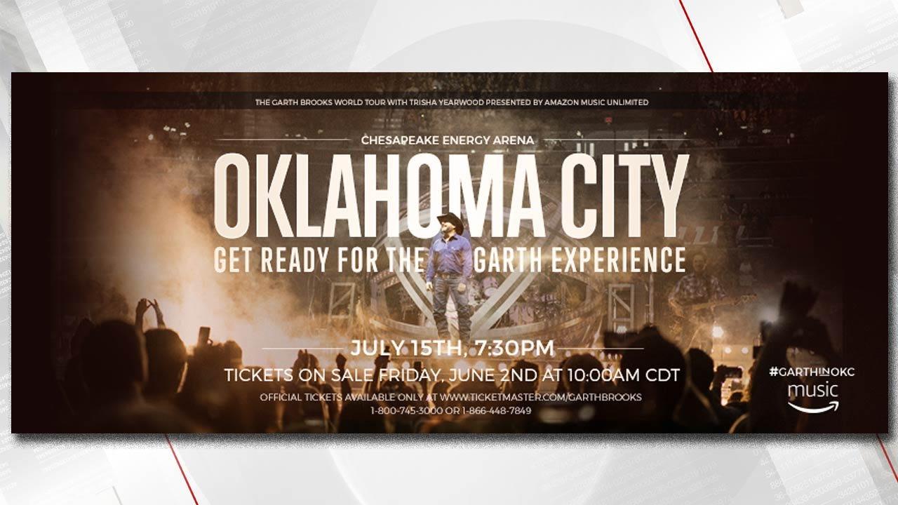 Garth Brooks Announces Concert Date For Oklahoma City