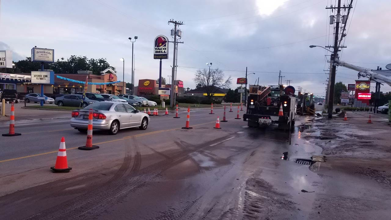 Water Line Breaks Impacts Tulsa Businesses, Homes