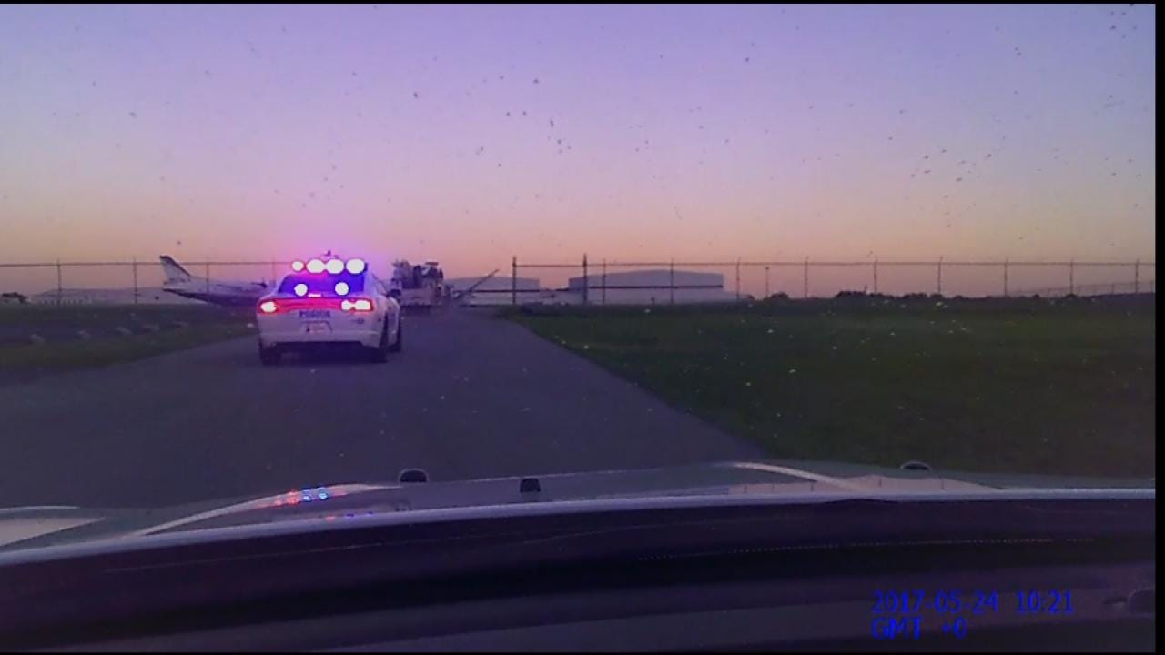 Dramatic Video Of Chase Across Tulsa Airport Released By Sapulpa Police