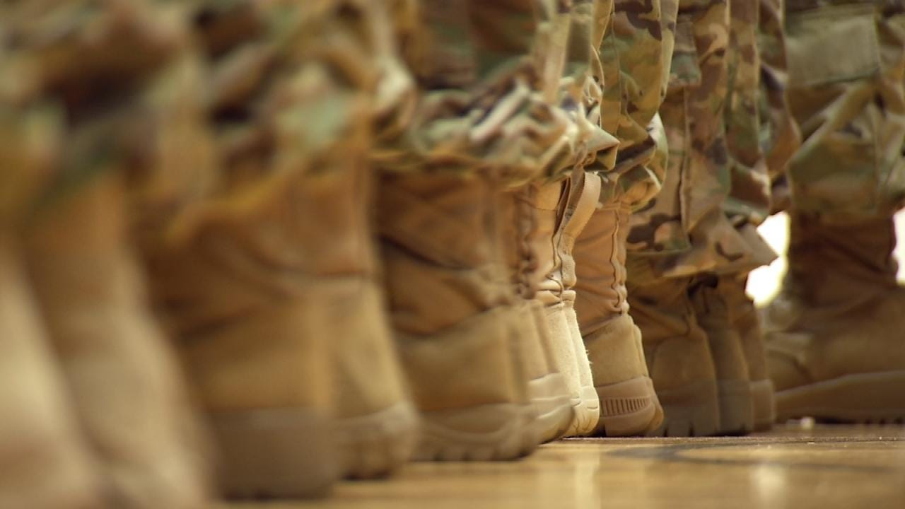 Oklahoma National Guard Soldiers Prepare For Deployment To Ukraine